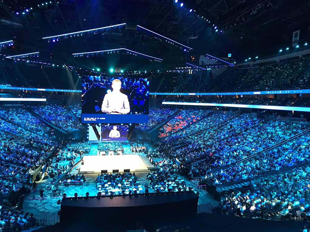 Packed stadium for Monday's Corenote!
