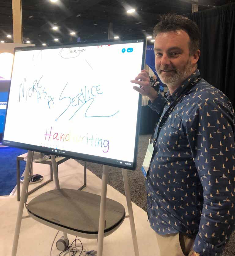 Me with the new Surface Hub 2S