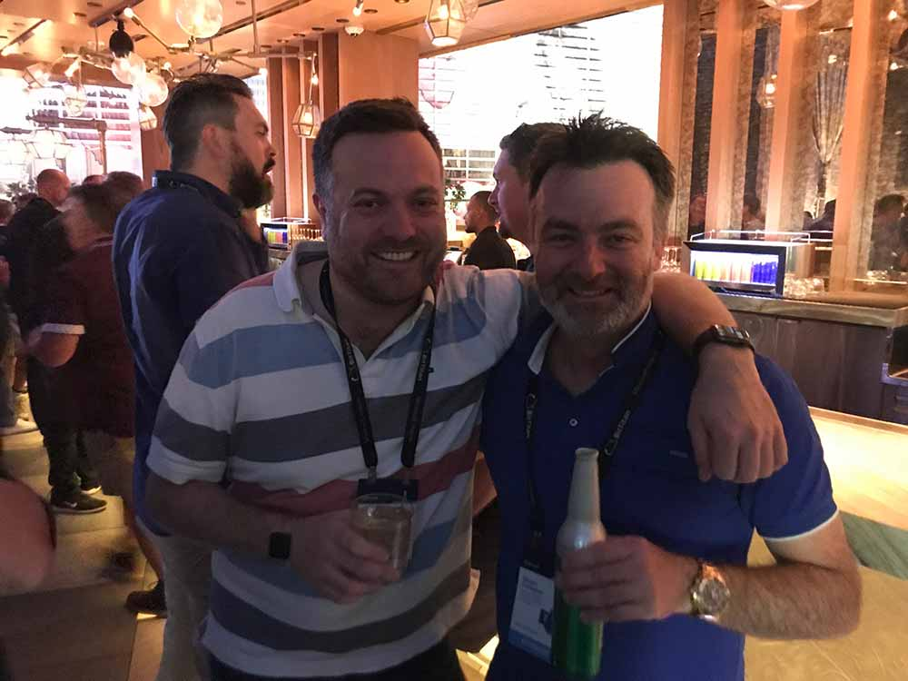 Ryan Wadsworth and I.  Ryan is from KordaMentha, who has one of the most comprehensive Microsoft Teams set ups - GLOBALLY.